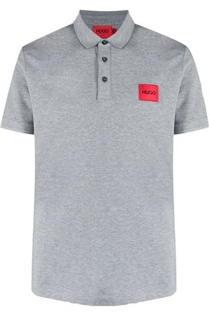 HUGO BOSS Logo patch polo shirt - Grey