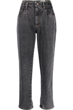 Brunello Cucinelli High-waisted straight-leg jeans