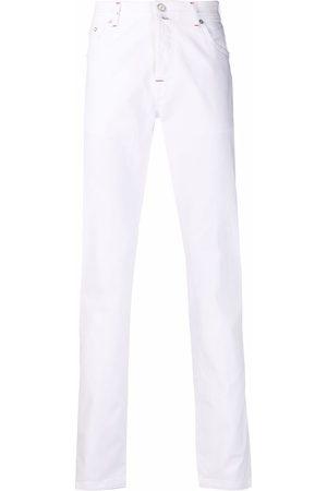 Kiton Mid-rise straight-leg jeans