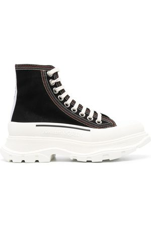 Alexander McQueen Tread Slick lace-up boots