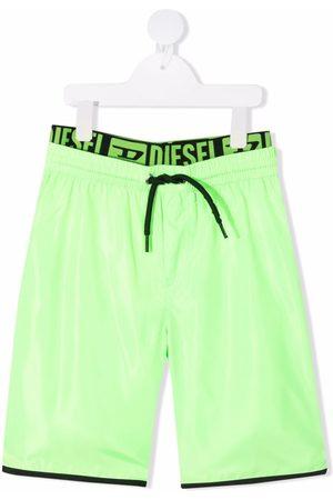 Diesel Boys Swim Shorts - Logo waistband swim shorts