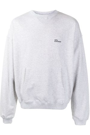 Drôle de Monsieur Men Sweatshirts - Embroidered-logo sweatshirt - Grey