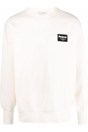 Alexander McQueen Logo-patch oversized sweatshirt - Neutrals