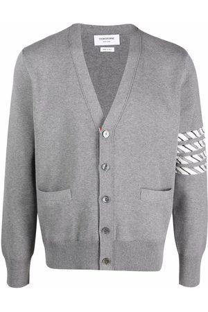 Thom Browne 4-Bar stripe cardigan - Grey