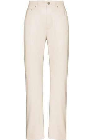 Nanushka Vinni straight-leg trousers - Neutrals
