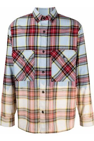 MARCELO BURLON Men Shirts - Dyed-effect check shirt