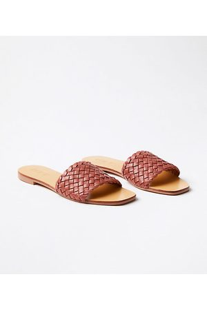 LOFT Women Sandals - Woven Leather Slide Sandals