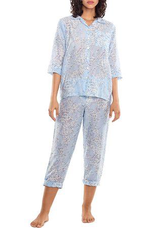 Papinelle Women Nightdresses & Shirts - Cherry Blossom Print Pajama Set
