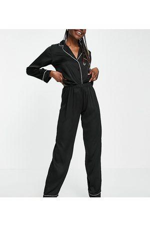 ASOS Women Long sleeves - ASOS DESIGN Tall satin long sleeve shirt & pants pajama set in