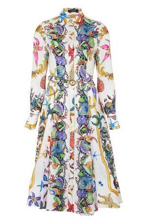 VERSACE Women Casual Dresses - Print shirt dress