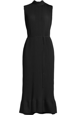Milly Women Midi Dresses - Women's Melina Sleeveless Pleat Midi Dress - - Size 2