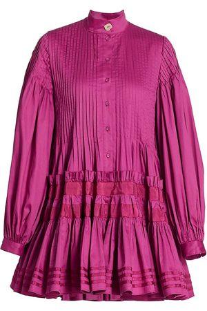 AJE Women Casual Dresses - Women's Run Free Smock Dress - Fuchsia - Size 8