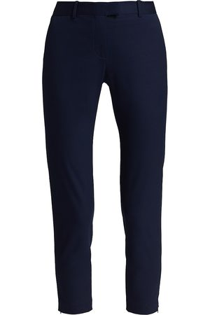 Altuzarra Women Stretch Pants - Women's Henri Stretch-Cotton Zip-Cuff Pants - Berry - Size 12