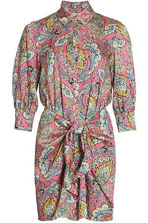 Cinq A Sept Women Casual Dresses - Women's Paisley Tie-Waist Shirtdress - Primrose Multi - Size 12