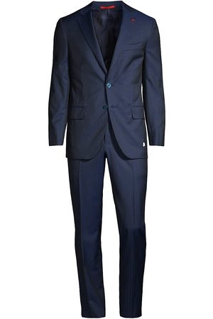 ISAIA Men's Wool Suit - Bright - Size 46