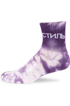 Heron Preston Men Socks - Men's Tie-Dye Short Socks - Tie Dye - Size Large