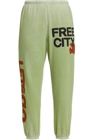 FREECITY Women Sports Pants - Women's Let's Go Logo Standard-Fit Sweatpants - Joshua Tree - Size Medium