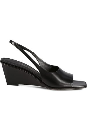3.1 Phillip Lim Women Wedges - Women's Laura Slingback Wedge Leather Sandals - - Size 9