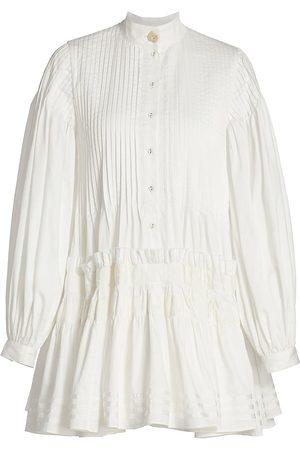 AJE Women's Run Free Smock Dress - Ivory - Size 12