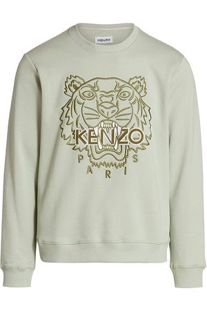 Kenzo Men's Embroidered Tiger Sweatshirt - Grey - Size XL