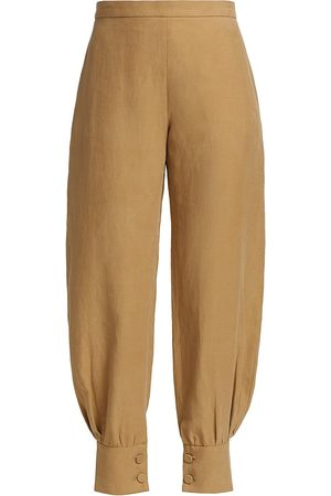Altuzarra Women Pants - Women's Hopper Button-Cuff Pants - Porcini - Size 6