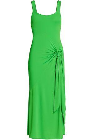 Cinq A Sept Women Midi Dresses - Women's Vera Tie-Wrap Sleeveless Midi Dress - Viper - Size Small