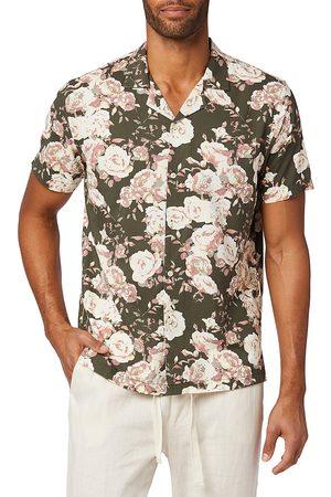 Joes Jeans Men's Floral-Print Camp Shirt - Multi - Size Medium
