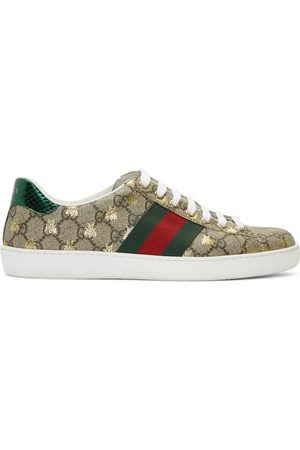 Gucci And GG Supreme Bees Ace Sneakers