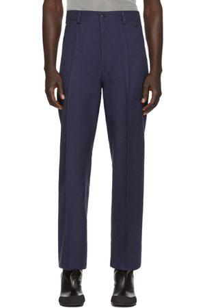 Random Identities Navy High Rise Trousers