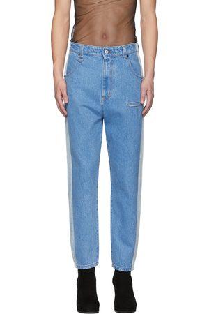 Random Identities Straight Leg Mid-Rise Striped Jeans