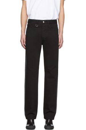 Random Identities Straight-Leg Mid-Rise Striped Jeans