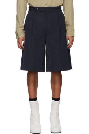 Random Identities Navy Oversize Tailored Shorts