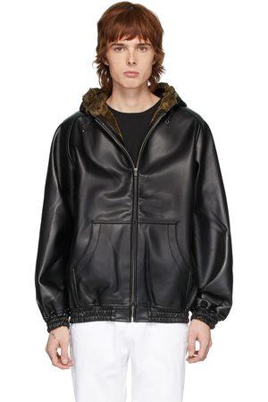 Random Identities Men Hoodies - Faux-Leather Zip Hoodie