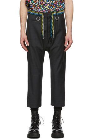 R13 Grey Shoelace Belt Trousers