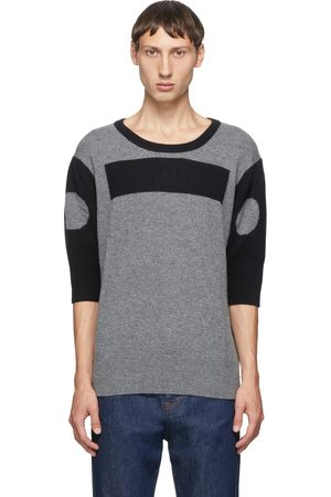 Random Identities Men Sweaters - Grey Wool and Cashmere Morse Code Sweater