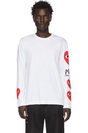 Comme des Garçons Multi Heart Long Sleeve T-Shirt