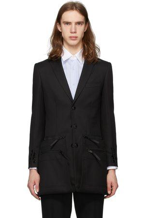 Burberry Twill Slim Fit Zip Panel Blazer