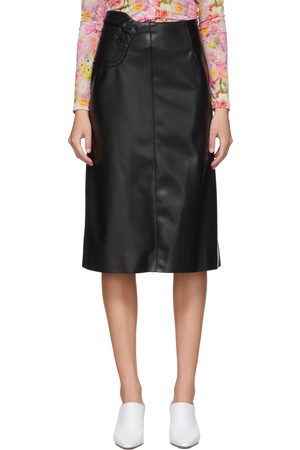 Commission NYC Faux-Leather A-Line Skirt