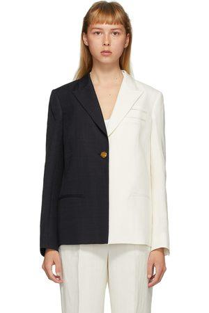 Partow Women Blazers - And Navy Silk Easton Bi-Coloured Blazer
