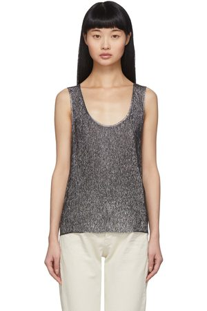 Saint Laurent Lame Jersey Tank Top