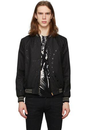 Saint Laurent Men Bomber Jackets - Galaxy Teddy Bomber Jacket