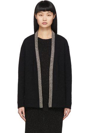 Saint Laurent Oversized Wool Embroidered Cardigan