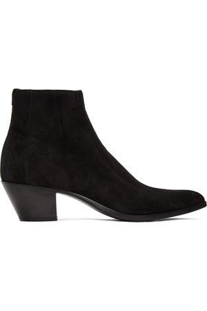 Saint Laurent Suede Finn Boots