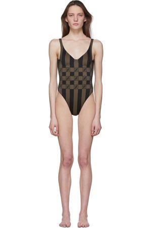 Fendi Forever Stripe One-Piece Swimsuit