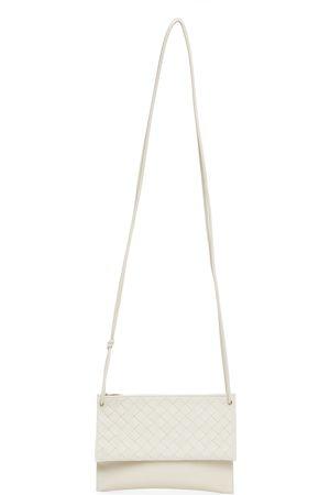 Bottega Veneta Off-White Intrecciato Double Pouch Wallet