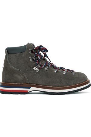 Moncler Men Lace-up Boots - Grey Suede Peak Boots