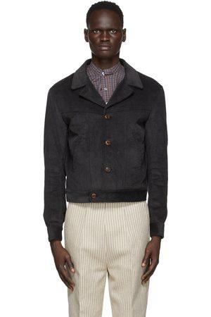 Martin Asbjorn Men Shirts - Grey Corduroy Dawn Shirt Jacket