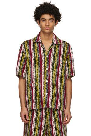 BODE Men Short sleeves - Primary Stripe Short Sleeve Shirt