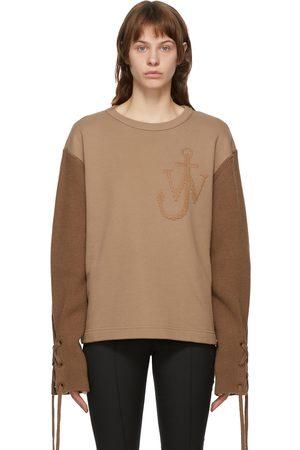 Moncler Genius 1 Moncler JW Anderson Edition Tan Logo Sweater