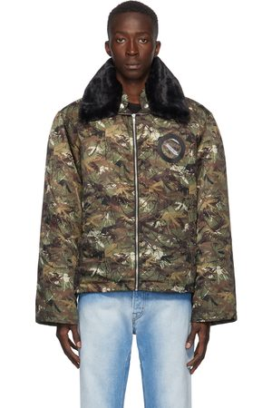 Random Identities Brown and Green Mile High Bomber Jacket